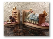 "Winnie-the-Pooh ""Chris in Bed"" Bookends Set by Charpente."