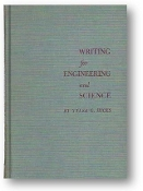 Writing for Engineering and Science by Tyler G Hicks, 1961