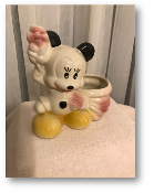 Vintage Mickey Mouse Leeds China Planter, 1940's